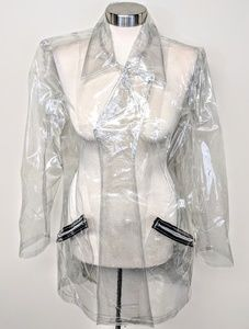 Tripp nyc Jackets & Coats - Tripp NYC Clear PVC Belted Trench Coat